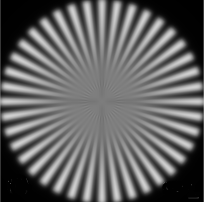 Lens resolution stripes